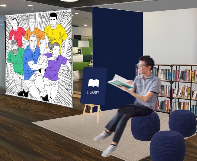 田亀源五郎氏によるオリジナル・アートワークと世界のLGBT絵本ライブラリー