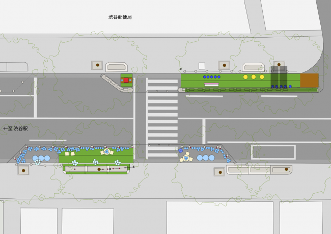 Park(ing)day2019渋谷宮益坂 実施平面図