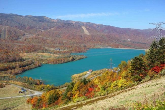 田代ロープウェー山頂からの田代湖