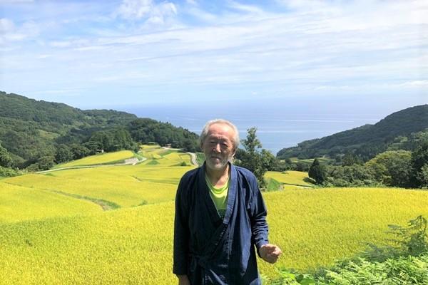 岩首昇竜棚田の守り人・お茶目な大石一郎さんによるトークショーを開催。