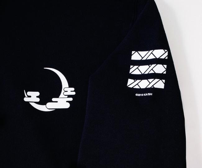 胸には月下獣をイメージしたデザインが。