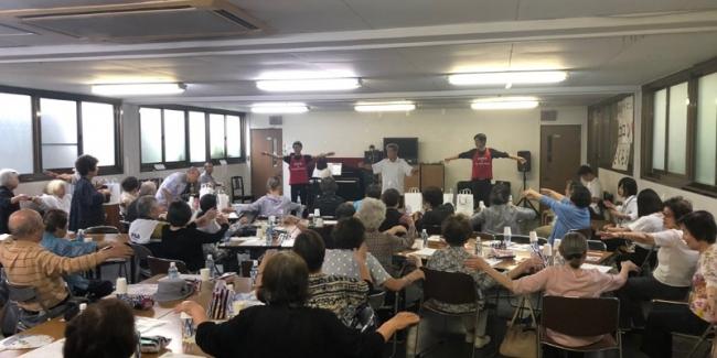 伊藤幸弘塾 高齢者サロン「ココロンさくら」訪問