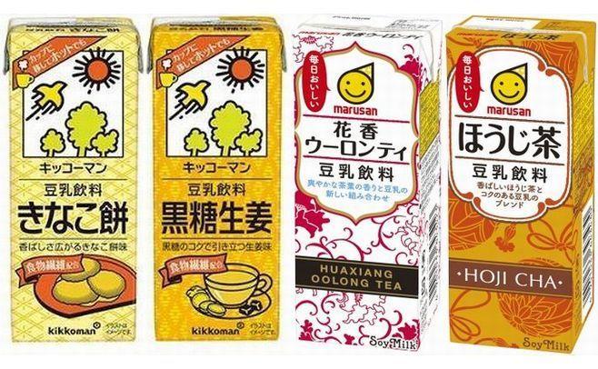 豆乳大手のキッコーマンとマルサンアイは、豆乳飲料の新製品でホットを提案