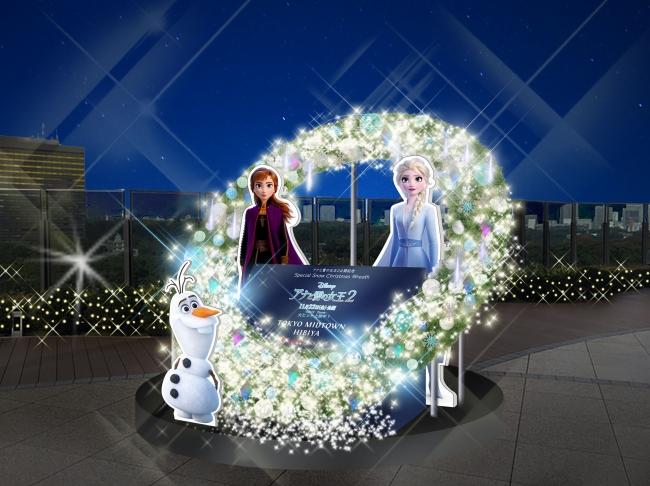 「Snow Dance Christmas Wreath」(C) 2019 Disney