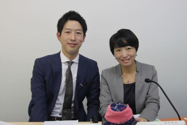 (左:嶋村 右:キャリアコンサルタント鈴木さや子様)