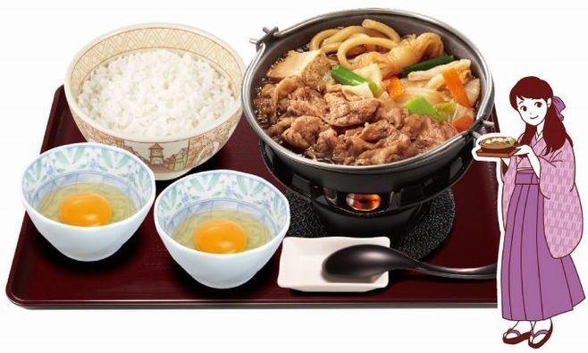 すき家「牛すき鍋定食」