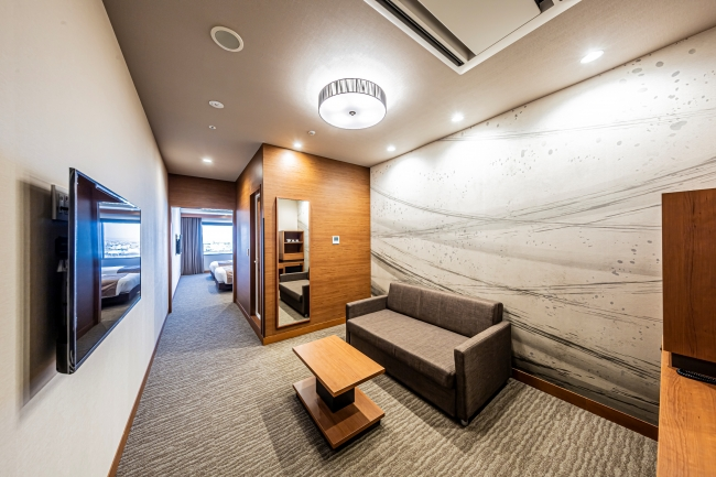 ゲストルーム デラックスツイン ベイビュー32.6平方メートル  リビングルーム