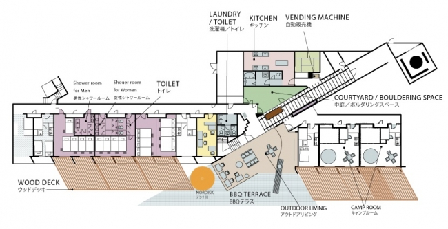 施設の1階見取り図