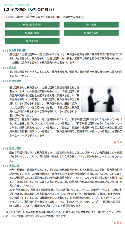 反社会的勢力との取引管理 入門編 画面イメージ2