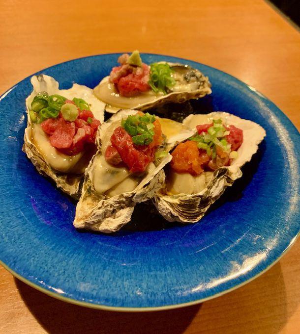 【広島県産牡蠣×炙りユッケ】