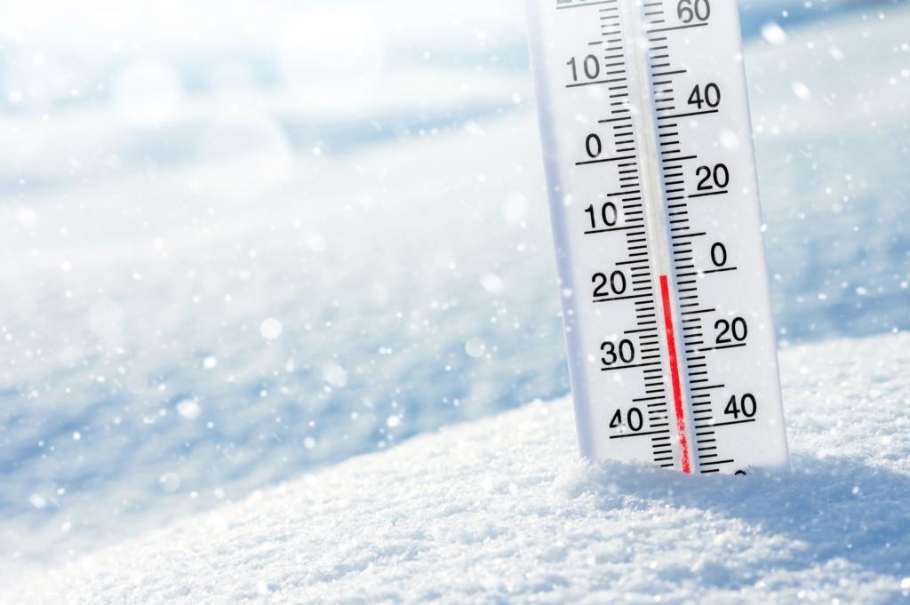 寒い 温度計