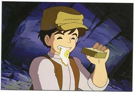 Amazon.co.jp: 天空の城ラピュタ ポストカード 食べ物シリーズ ~パズーの目玉焼きパン~: おもちゃ (2166522)
