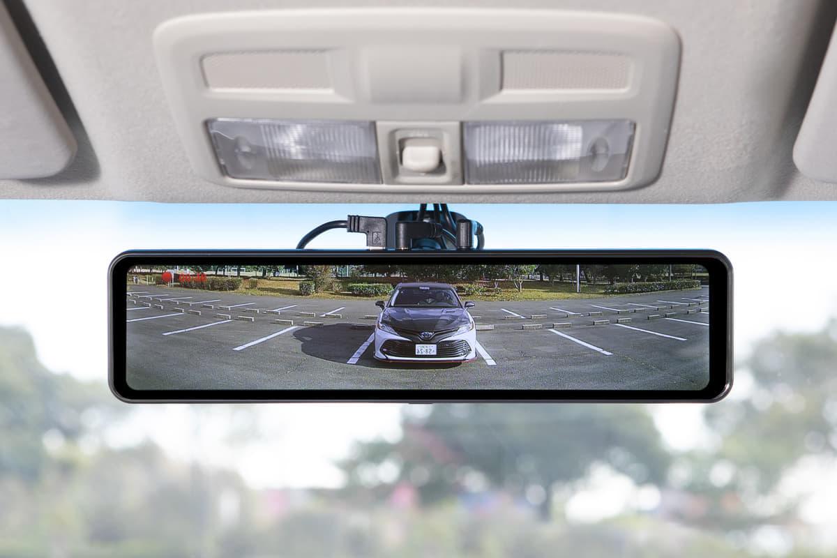後付けできる安全運転装置、Gファクトリーの「スマートルームミラーSH1BIG・GPS付き」と『サブロクシステム・ブラインドスポットモーションBSM』