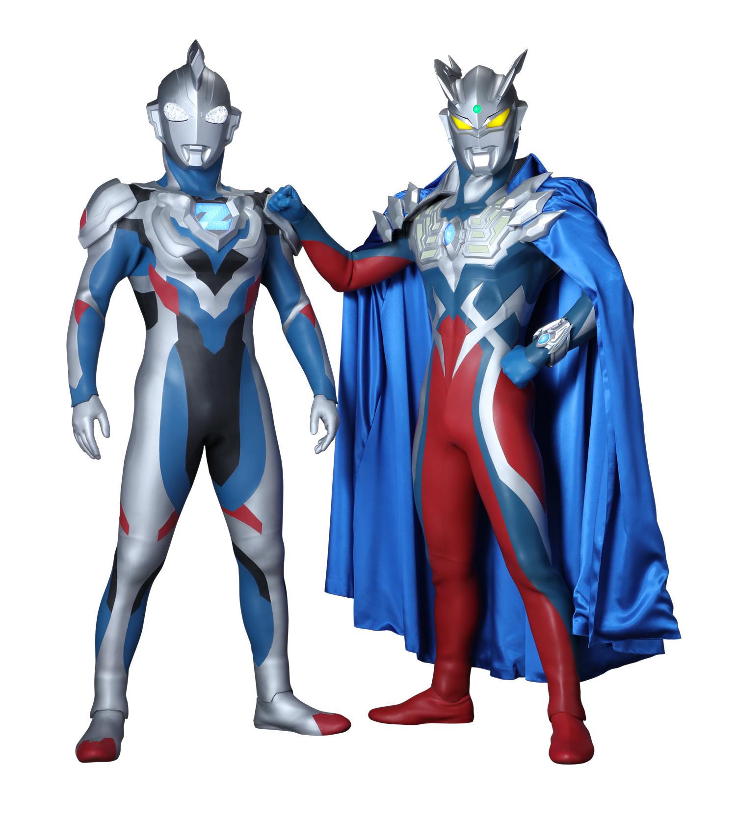 ウルトラマンゼット(左)、ウルトラマンゼロ(右) (c)円谷プロ (c)ウルトラマンZ製作委員会・テレビ東京