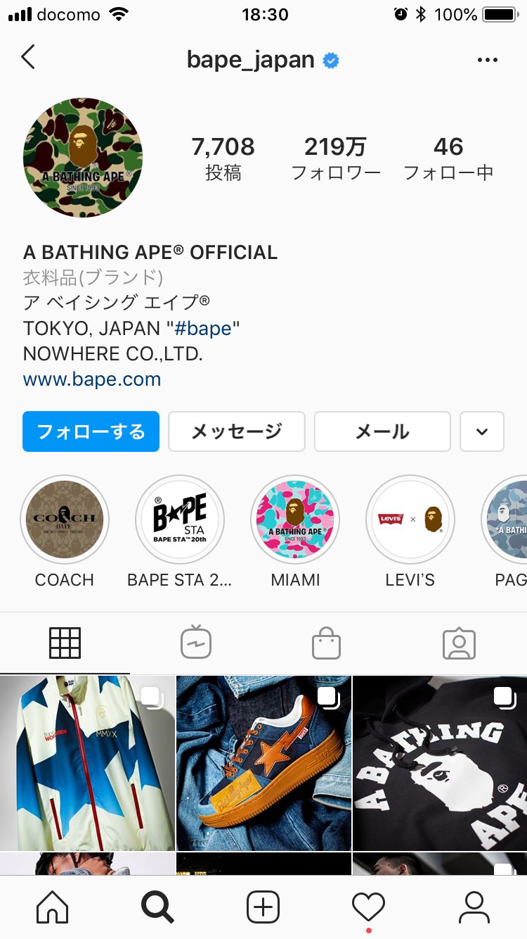 A BATHING APE@ OFFICIAL