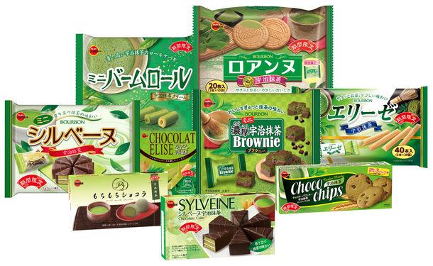 抹茶フェア商品(新商品3品、リニューアル品6品)