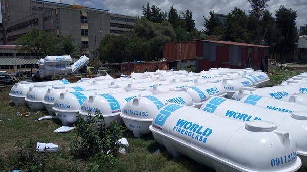 エチオピアで提供した大型水タンク(WatrAid/Zerihun Kassa)
