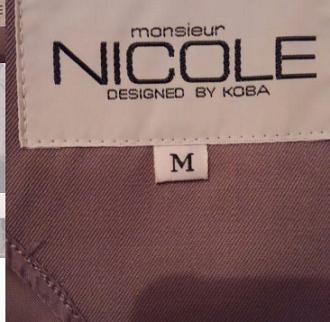 DC ブランドのNICOLEのバブル期に流行ったスーツ