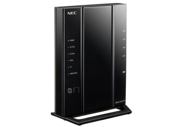 上方向への電波強度を高めた戸建て向きモデル「Aterm WG2600HP3」NEC/実勢価格1万2000円前後。戸建てで1階に設置した場合でも3階まで安定した電波をお届け! 子供安心機能で、端末ごとに見せたくないサイトや視聴時間制限を設定OK。11ac対応で速度も安定!!