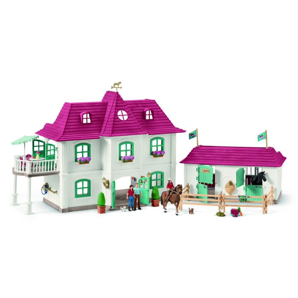 ホースクラブの大きなお家と馬小屋セット01