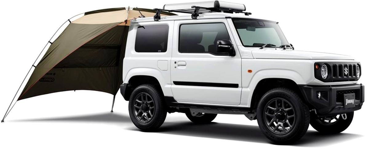 自動車でキャンプへ行くならタープを張るよりもサイドオーニングを活用した方がオススメです