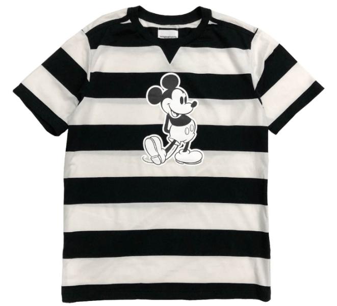 ミッキーマウス クルーネック ss ストライプ ティー2