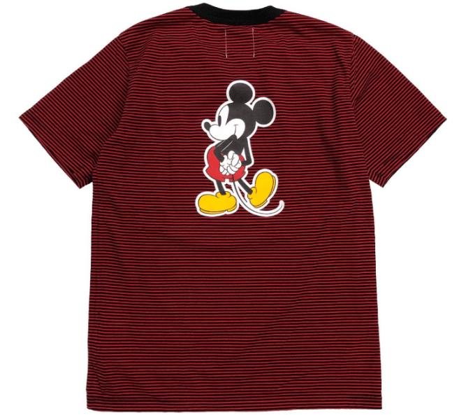 ミッキーマウス クルーネック ss ストライプ ティー