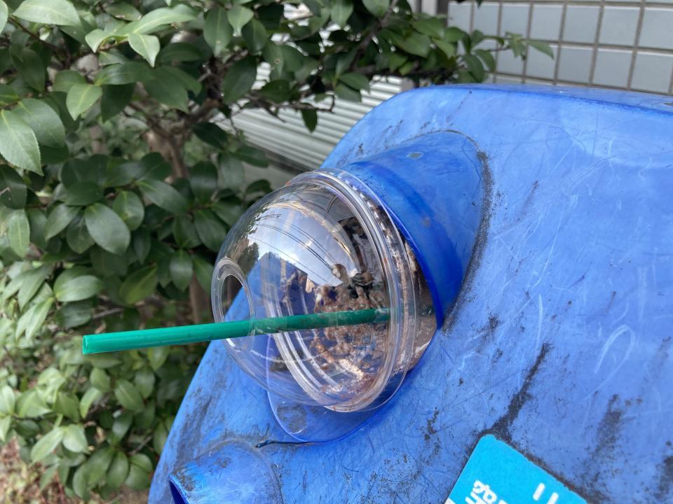 某コーヒーチェーン店の空容器(編集部で再現の上、回収)