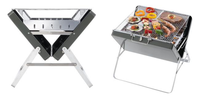 ケースは広角OPENになっているため、コンパクトな見た目ながら広いスペースで調理可能。