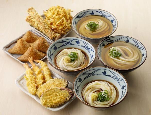 丸亀製麺「打ち立てセット」4人前(注文例)