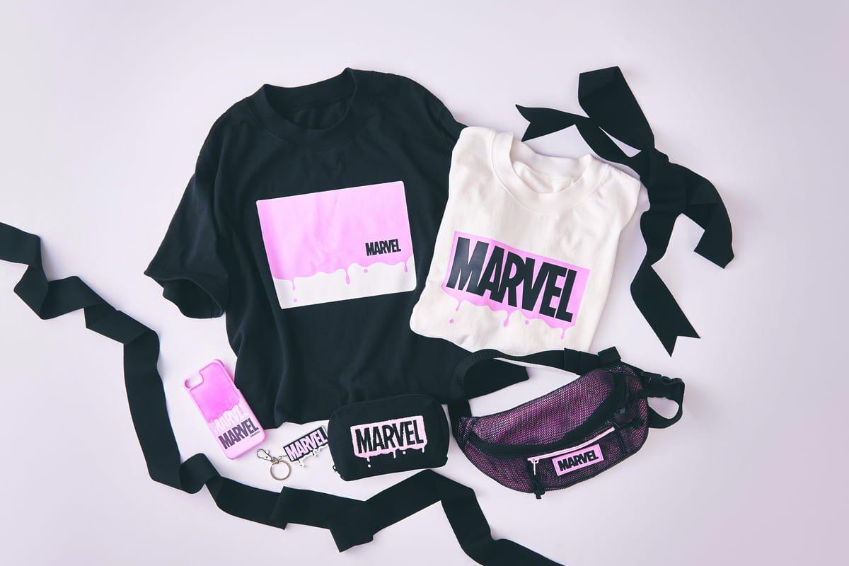 カッコ可愛いピンク ブラック ディズニーストア Marvel グッズ