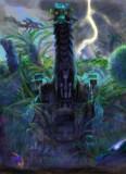 弩竜乱入 雷雲とグラキオサウルス