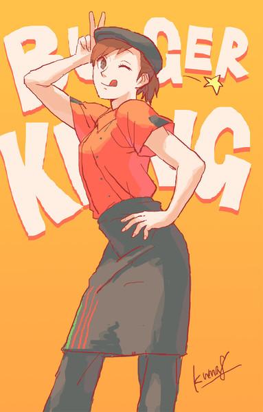 『ファストフード店の制服はかわいい「バーガーキング」』のサムネイル