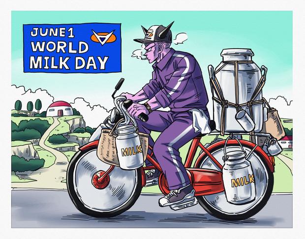 『世界牛乳の日』のサムネイル