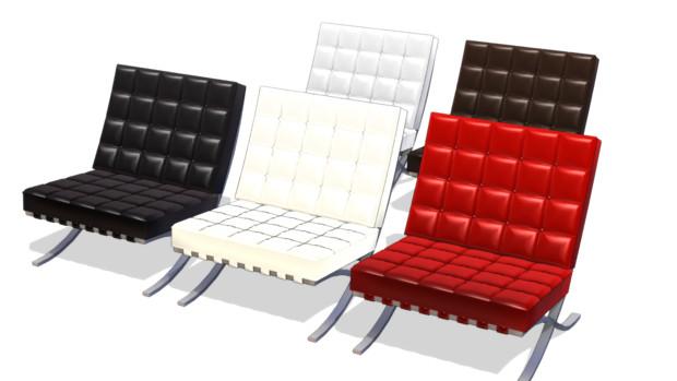 『バルセロナチェア風の椅子』のサムネイル
