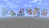 Minecraftでドット絵白玉楼+八雲一家