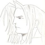 模写 ファイナルファンタジーⅦ セフィロスさん(モノクロ)