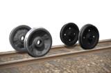 鉄道車両の車輪。