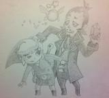 【ゼルダの伝説】リンクとラインバック【夢幻の砂時計】鉛筆Ver.