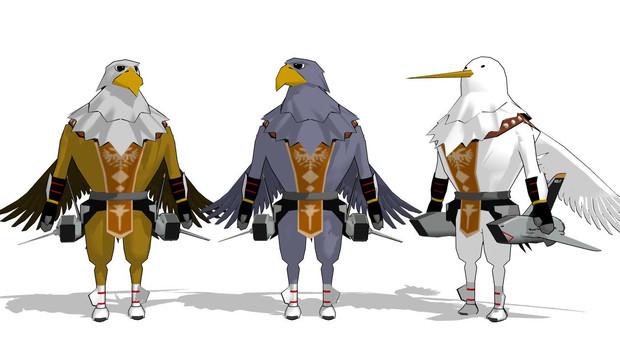 『【MMD】SD鳥人ガルト族さんズ配布しました』のサムネイル