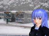 冬のバスターミナル