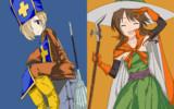 僧侶小梅と魔法使い藍子!