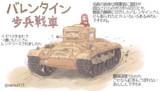 バレンタイン歩兵戦車ですわ
