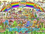 Long long rainbow