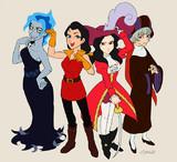 ディズニーの悪役キャラクターを女体化してみた。