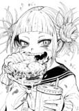 ハンバーガーをキレイに食べられないトガちゃん