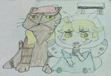 シロくんと猫(熱中症対策)