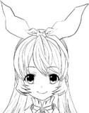 アイカツ!塗り絵:星宮いちごちゃん【簡易版】