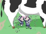 牛乳を飲むアライちゃん