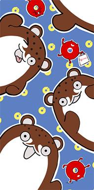 『由良競泳水着のタオル柄』のサムネイル